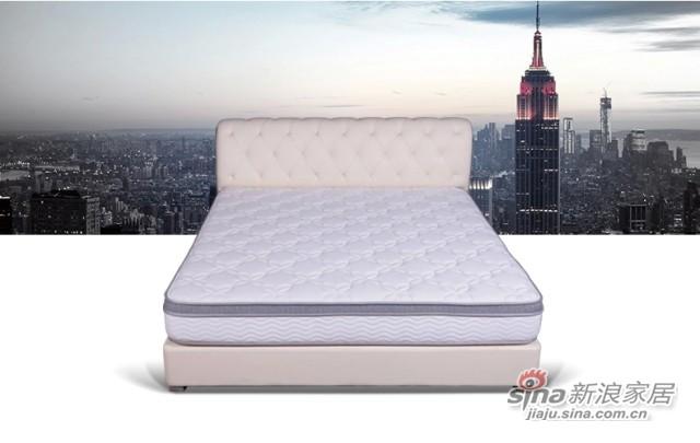 【喜临门】双人床实木床1.8米软床 小户型 皮床 真皮床 A616K