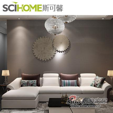 斯可馨 布艺沙发简约现代客厅组合沙发 中户型可拆洗-1
