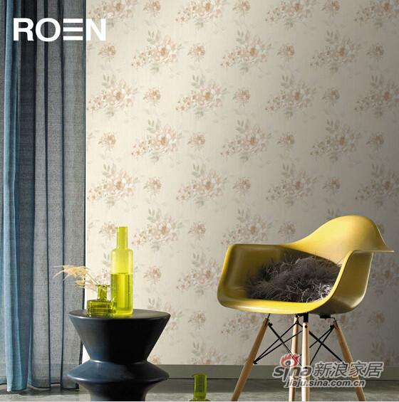 柔然壁纸 法式浪漫的藤蔓花型背景墙纸-0