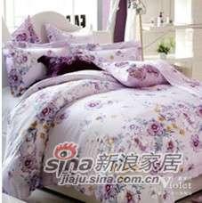 紫罗兰家纺天丝印花四件套紫嫣VPEY015-4-0