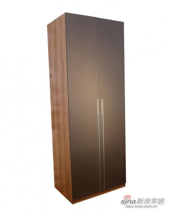 迈格家具 两门衣柜SA11SA4 灰苹果木