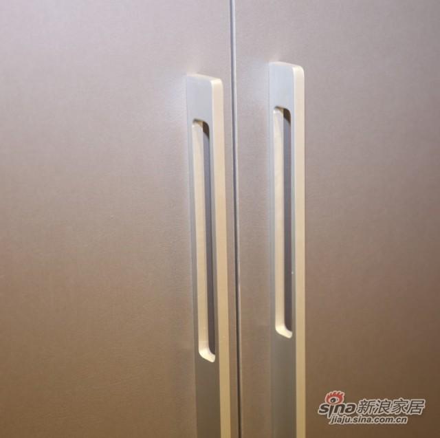 迈格家具 两门衣柜SA11SA4 灰苹果木-2