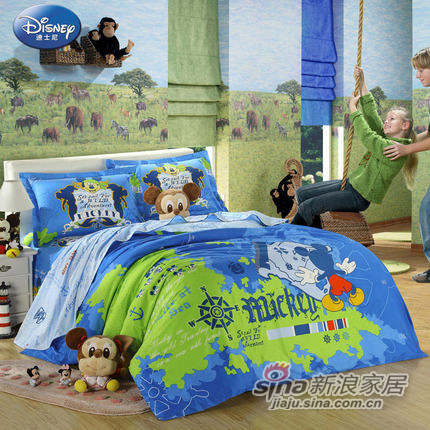 迪士尼全棉纯棉床单三/四件套件W-DA29-0