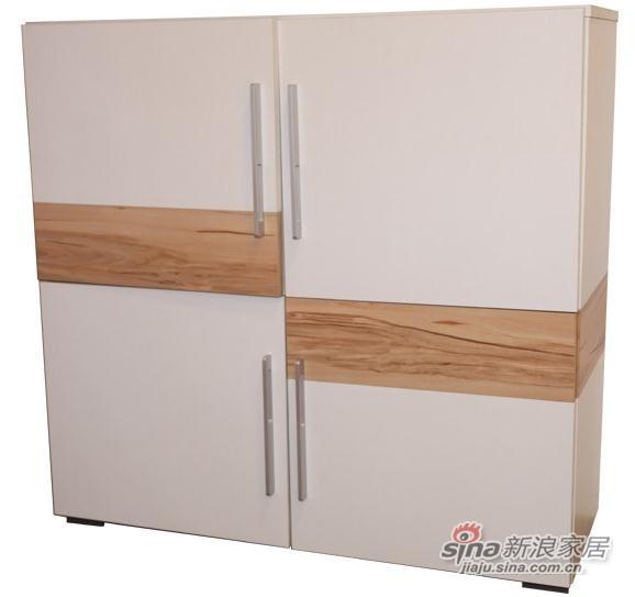 迈格家具 四门柜SZ-08DG 白色苹果木