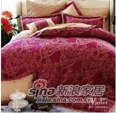 紫罗兰家纺婚庆色织六件套钟爱一生VPEK901-6-0