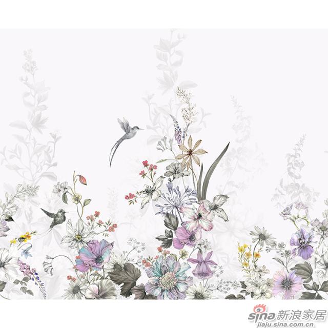 莫里安花园_奇花异草、缤纷斑斓壁画自然花鸟背景墙_JCC天洋墙布-1