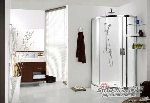 德立扇形推拉门淋浴房-0