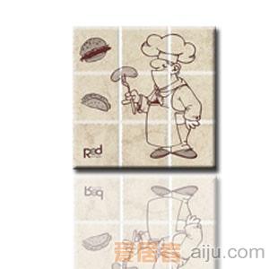红蜘蛛瓷砖-复古砖系列-墙砖(花片)RW36013T1-1(300*300MM)