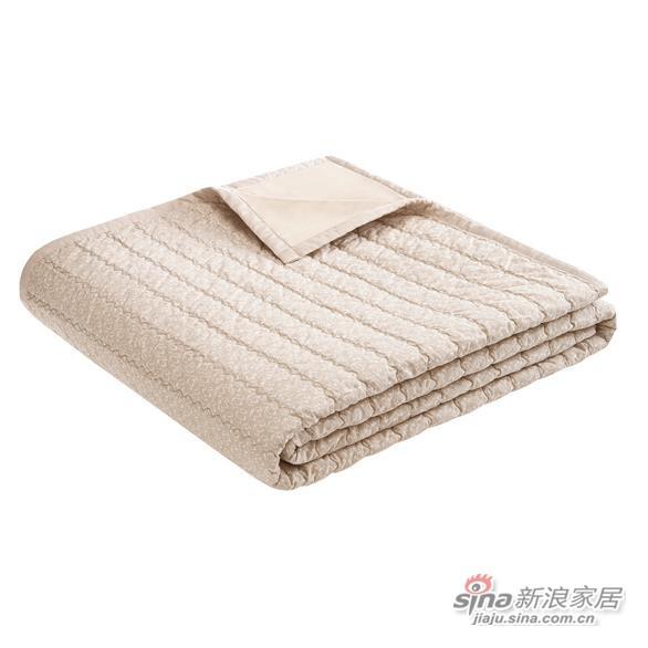 全棉印花绗缝盖被-1