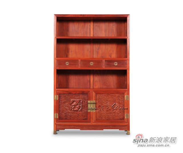 连天红云龙纹柜格-0