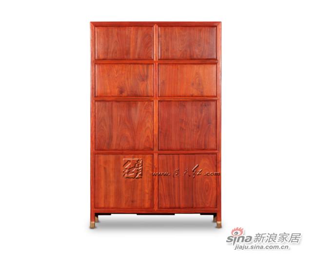 连天红云龙纹柜格-3