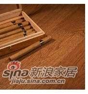 四合三层实木复合地板地热专用白栎(砖茶色)