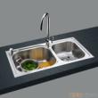 GORLDE优质不锈钢水槽/洗菜池 银莱茵系列2026PL(大小盆)