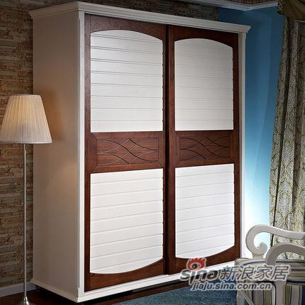 小憨豆家居进口白蜡木卧室衣柜-6