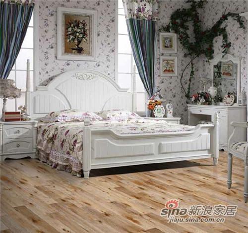 安信橡木浮雕复古白桂色实木复合地板-0