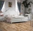 安信橡木浮雕复古白桂色实木复合地板