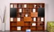 简单实用格子式陈设书柜