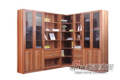 风尚红李SG-1602组合书柜-0