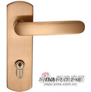 雅洁AS5091A-E1712-K6插芯门锁+琥珀金-0