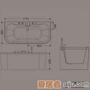 惠达龙头浴缸-HD13172