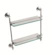 华艺卫浴D07082 双层玻璃置物架