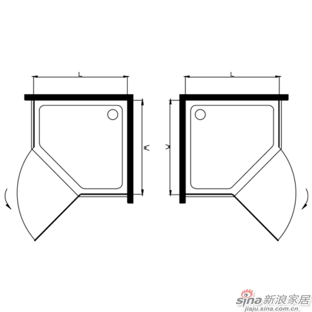 航标卫浴不锈钢淋浴房-1