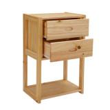 喜梦宝松木书柜置物架环保田园家具