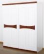 光明白色简易衣柜实木衣橱
