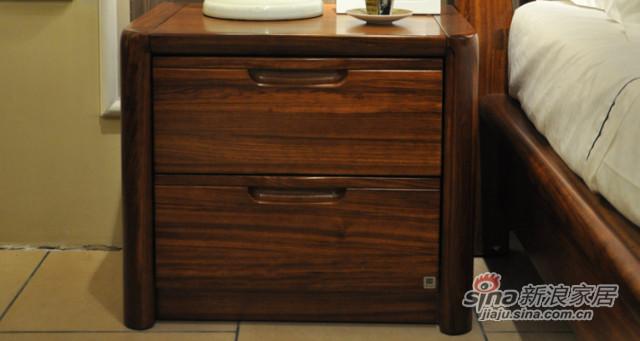 柏森B201实木床头柜-0