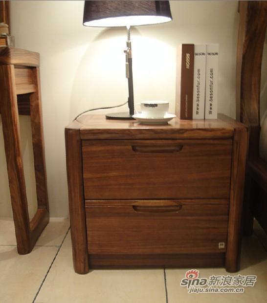 柏森B201实木床头柜-1