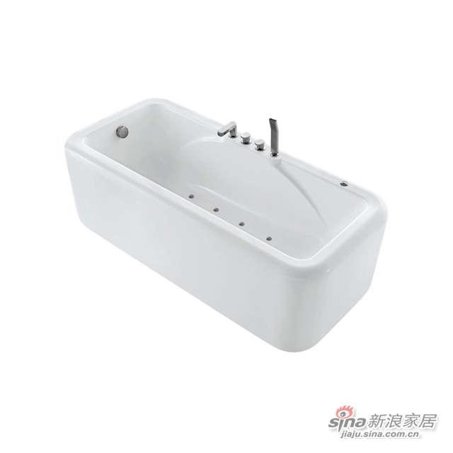 独立式带龙头空气按摩浴缸-0
