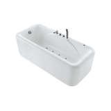 独立式带龙头空气按摩浴缸