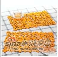 lovo家纺环保方形餐垫-橙色-0