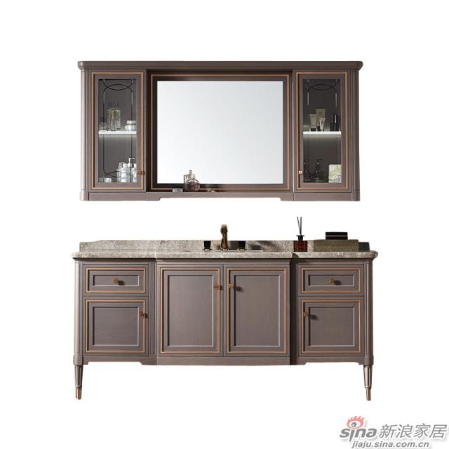 阿洛尼浴室柜-鎏金岁月A1637化妆台组合柜-1