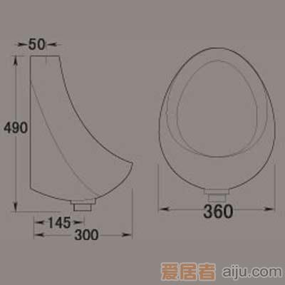 惠达小便器-HD490挂便2