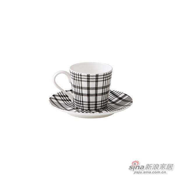 Napoli 方格陶瓷咖啡杯碟套件-0