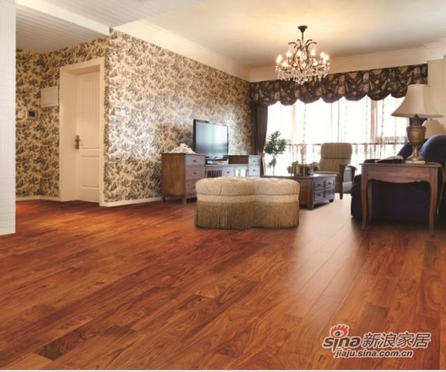 安信非洲花梨木实木地板-0
