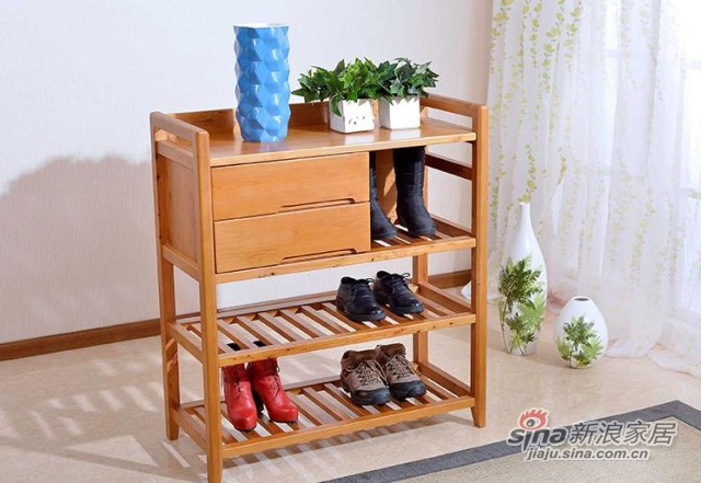 纯实木柏木鞋架