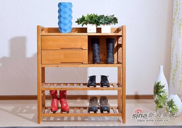 纯实木柏木鞋架-1