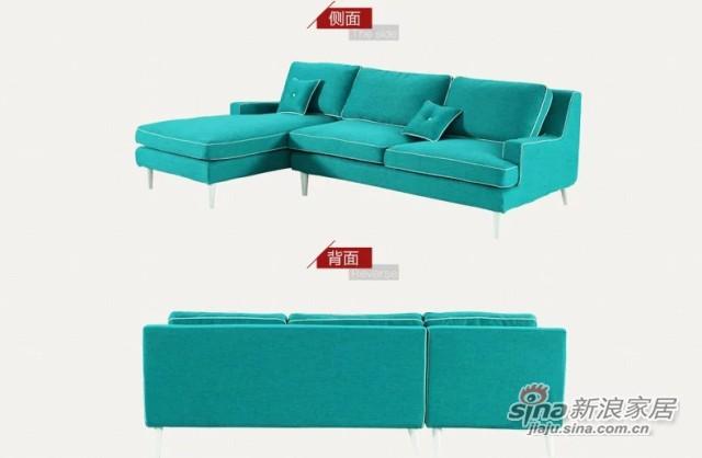 斯可馨 布艺沙发组合沙发可拆洗简约现代转角三人躺位 可定制4013-3