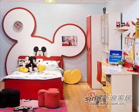 迪士尼儿童彩色家具-顽皮米奇床-0