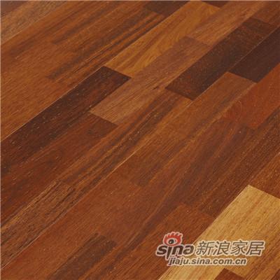 德合家BEFAG三层实木复合地板B55606三拼玛宝木-1