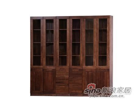 百强黑森林组合书柜
