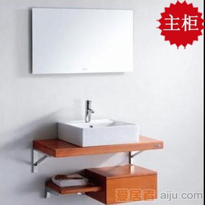 法恩莎实木浴室柜FPGM4682主柜(900*500*60mm)含镜子1