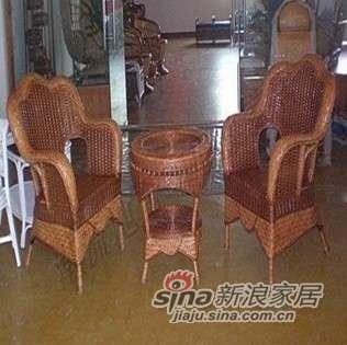 凰家御器藤椅藤家具三件套休闲椅阳台椅NH-A020-0