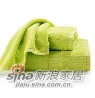 lovo家纺时尚毛浴巾套件(绿色)-0