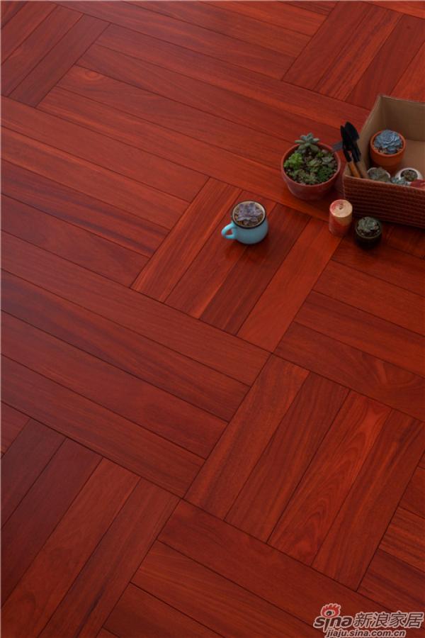 野生原木地板-二翅豆D1341P