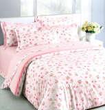 红富士床上用品学生用单人纯棉三件套沧海桑田灰