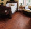 安信橡木浮雕复古人字拼实木地板