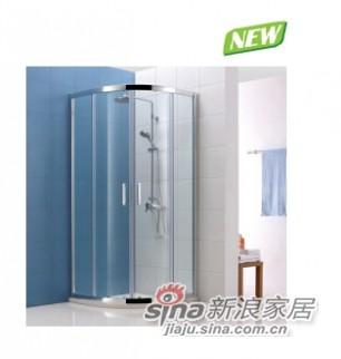 都灵系列扇形淋浴房(2固2活)